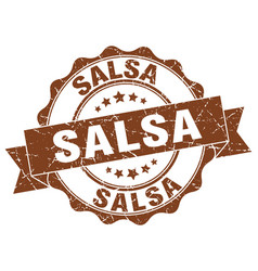 salsa stamp sign seal vector image vector image