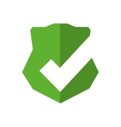 Shield badge protection label security icon vector