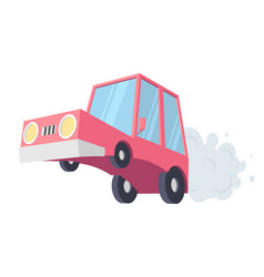 abstract creative funny cartoon car set isolated vector image