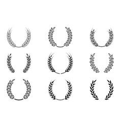 black laurel wreath - a symbol of the winner vector image