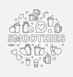 smoothies concept round symbol vector image vector image