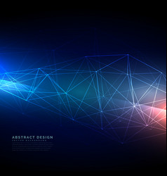 abstract technology wireframe mesh in digital vector image