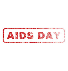 aids day rubber stamp vector image