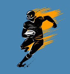 american football banner vector image