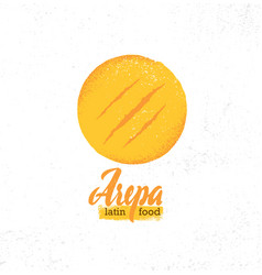 Arepa home made gluten free crispy venezuelan vector