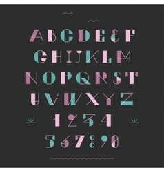 Art deco geometric font vector