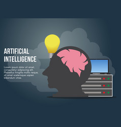 artificial intelligence concept design template vector image