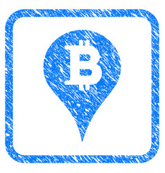 Bitcoin marker framed stamp vector