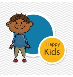 boy kids happy icon vector image