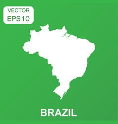 brazil map icon business concept brazil pictogram vector image