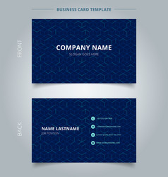 Business name card abstract cube pattern on dark vector