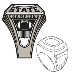 Championship state ring vector