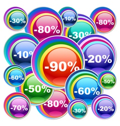 Colorful discount labels vector image