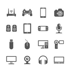 Computer gadgets and handheld digital device vector