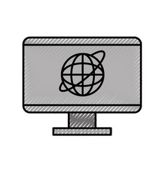 Computer internet news vector