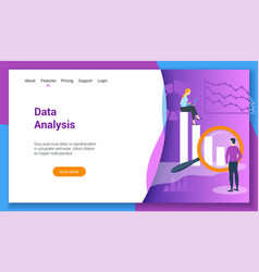 concept on data analysis theme vector image