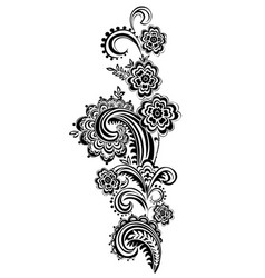 contour pattern with lace elements vector image