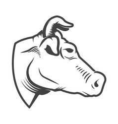 cow head icon isolated on white background design vector image