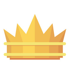 crown icon flat style vector image vector image