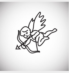 cupid thin line on white background vector image