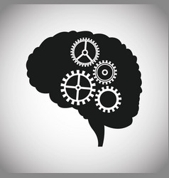 Dark brain gears inspiration vector