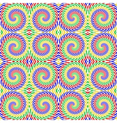Design seamless colorful spiral movement pattern vector
