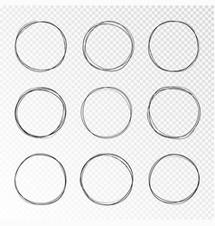 doodle sketched circles hand drawn scribble vector image