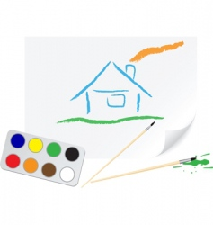 Drawing home vector