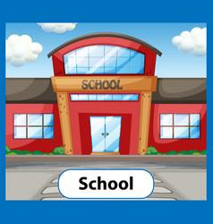 Educational english word card school vector