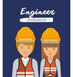 engineer profession design vector image
