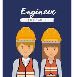 engineer profession design vector image