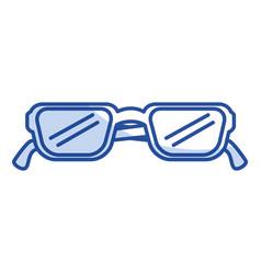 Eye glasses modern style vector