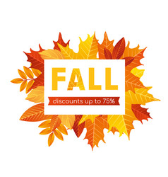 Fall sale lettering background vector