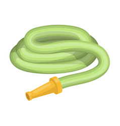 garden hose with nozzle hose for watering beds vector image