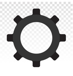 Gears setting cogs flat icon for apps and websites vector