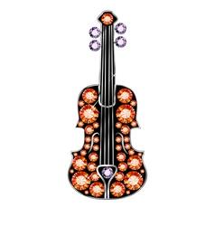 Gem Violin vector