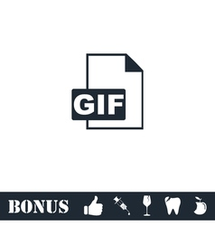 GIF format icon flat vector image
