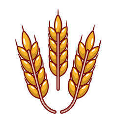 Grainy wheat icon cartoon style vector