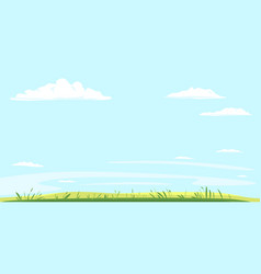 green grass on background blue sky vector image