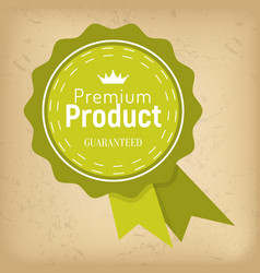guarantee premium quality isolated round award vector image