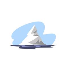Iceberg floating in the ocean vector