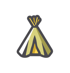indian wigwam home icon cartoon vector image