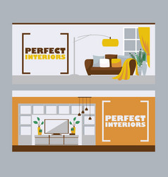 interior design banners vector image