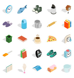 interior icons set isometric style vector image vector image