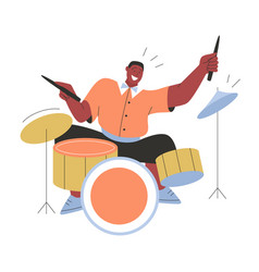 Jazz band playing music at festival concert or vector