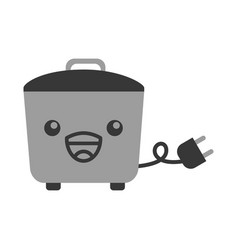 Kawaii rice cooker cartoon vector