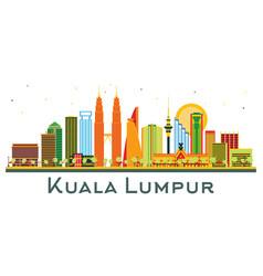 kuala lumpur malaysia city skyline with color vector image
