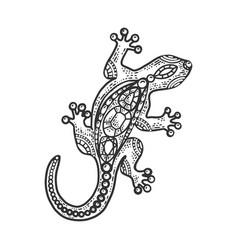 lizard jewelry sketch vector image