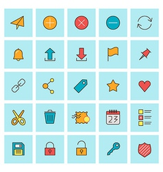 Mail and user interface icons icon set in flat vector