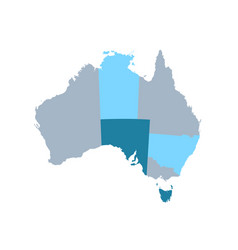map of australia with states and territories vector image